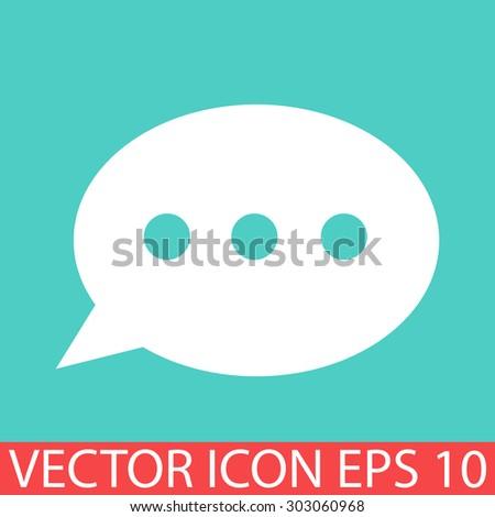dialog box icon - stock vector