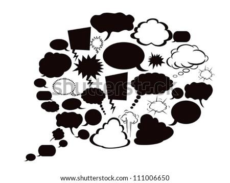 dialog bubbles - stock vector