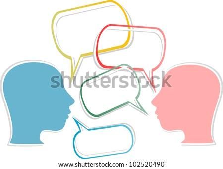 dialogs concept. vector illustration symbol set - stock vector