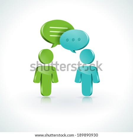 Dialogue Speech Bubbles, Eps 10 - stock vector