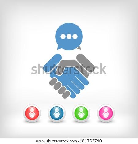 Dialogue to reach an agreement - stock vector