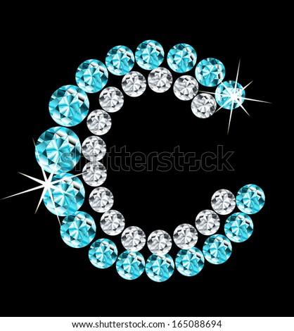 Diamond alphabetic letter. Vector - stock vector