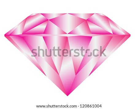 Diamond anatomy pattern in standard cut for modern round brilliant with 58 facets illustrated by blue shown premium design of 27 shapes in 10 EPS format. Pink - stock vector