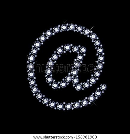 Diamond At Symbol - stock vector