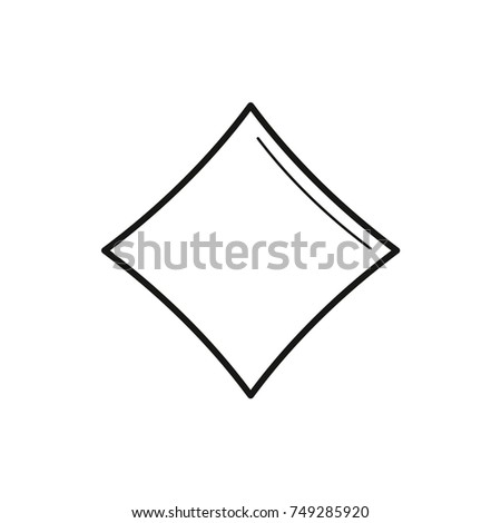 Diamond Card Suit Icon Vector Line Stock Vector Royalty Free