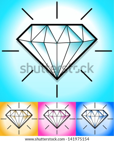 Diamond clip-art background (s)