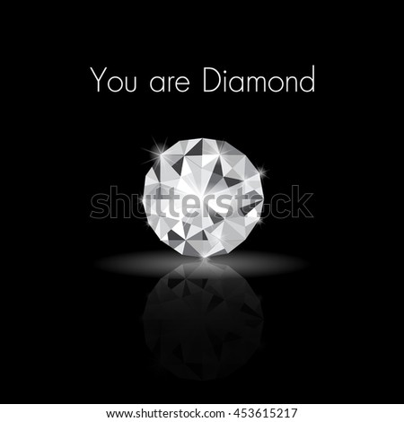 diamond front side vector
