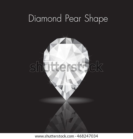Diamond Gem Jewelry Pear Shape Vector