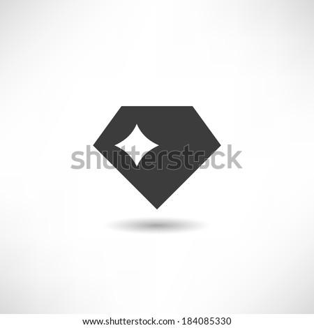 Diamond icon - stock vector