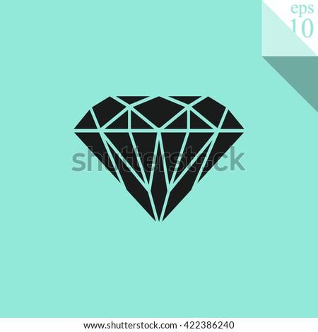 Diamond Icon. - stock vector