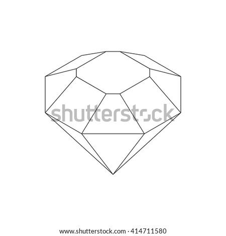 Diamond icon, isometric 3d style  - stock vector