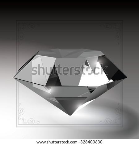 Diamond illustration 2 of 2.Shine Bright like a Diamond. - stock vector