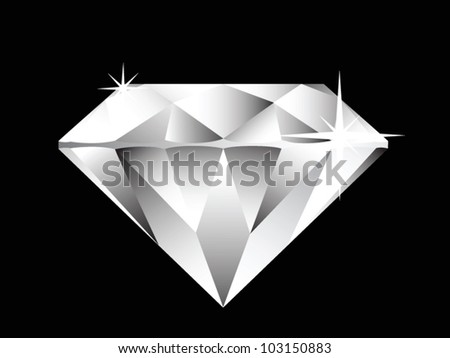 diamond illustration on black background