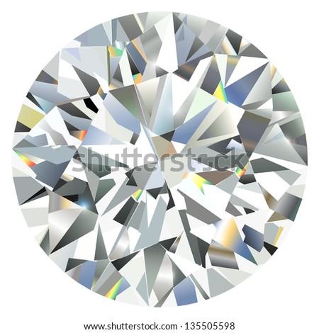 Diamond isolated on white - stock vector