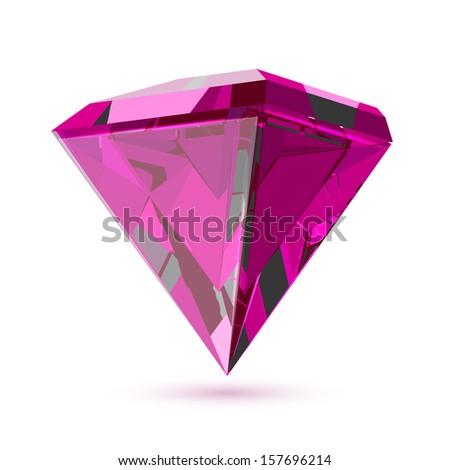 Diamond isolated on white. - stock vector