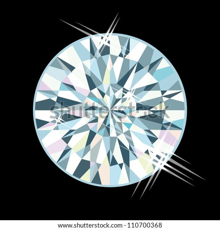 Diamond jewel, vector illustration - stock vector