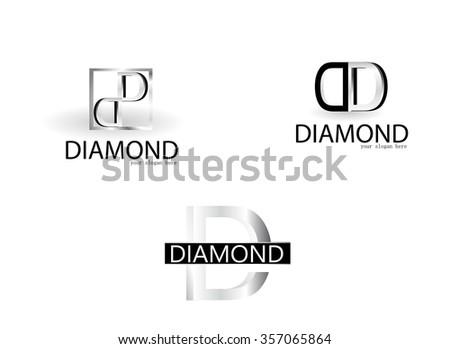 Diamond Logo - stock vector