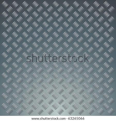 Diamond metal plate background texture - stock vector