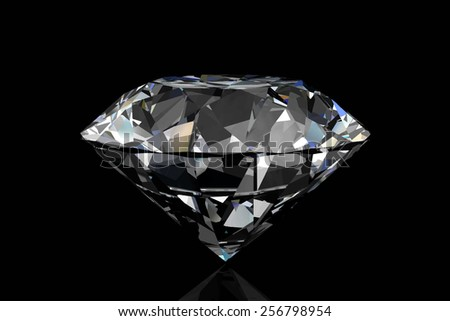Diamond on black background .Vector illustration.