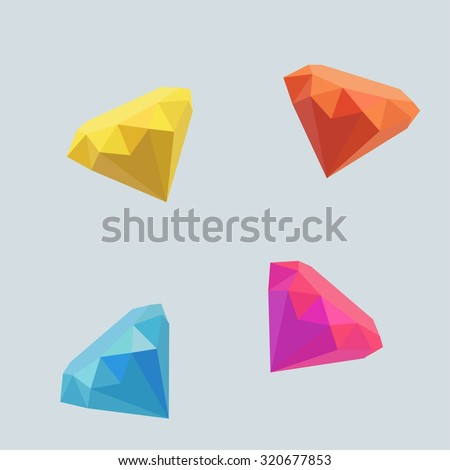 Diamond Origami Stock Vector 320677853