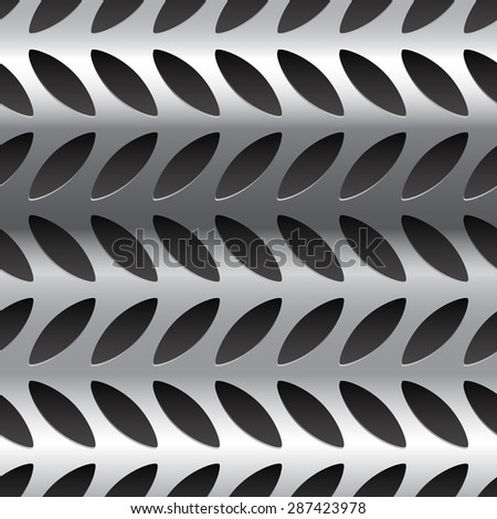 Diamond plate metal pattern, texture. Seamlessly repeatable. - stock vector