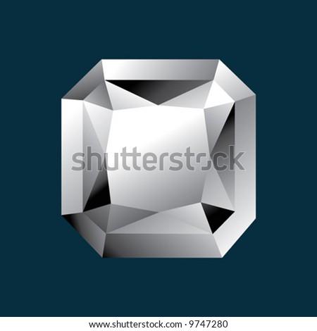 Diamond radiant shape - stock vector