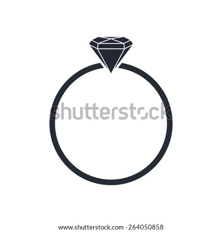 diamond ring - stock vector