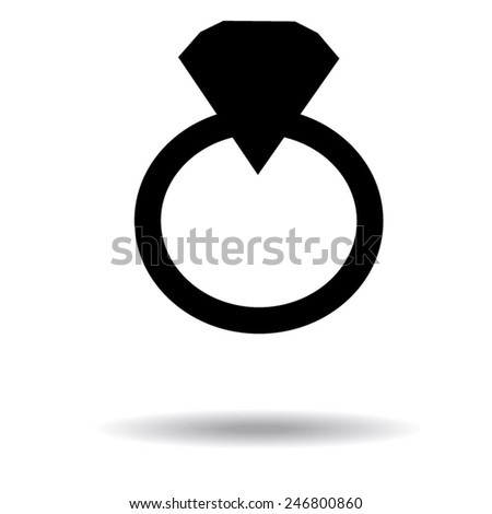 diamond ring vector icon - photo #42