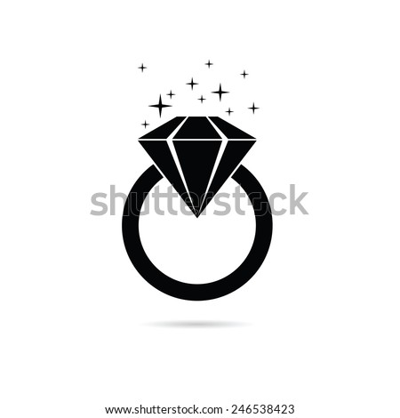 diamond ring vector icon - photo #46