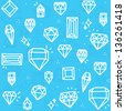 Diamond seamless vector pattern - stock vector