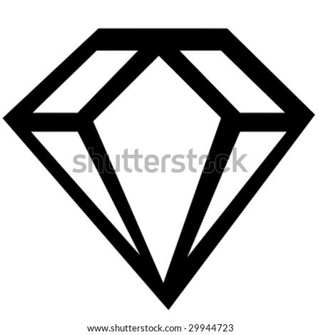 diamond sign - stock vector