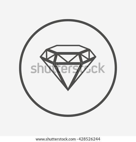 Brilliant on loose diamond transparent background