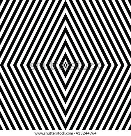 Diamond symbol of hypnotic action - stock vector