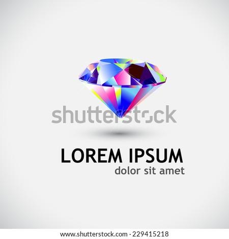 diamond symbol. Vector  - stock vector