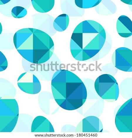 Diamond triangles Easter eggs vector seamless pattern - stock vector