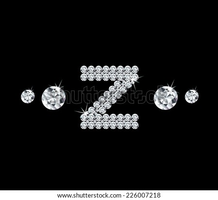 Diamond vector alphabetic letter 'Z' - stock vector