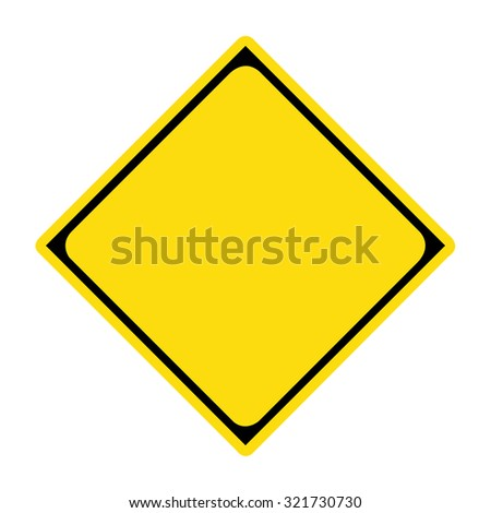 Diamond Yellow Warning Sign