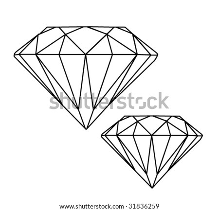 Diamonds - stock vector