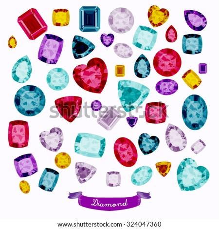 Diamonds Vector Design Illustration - stock vector