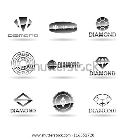 Diamonds. Vol 2. - stock vector