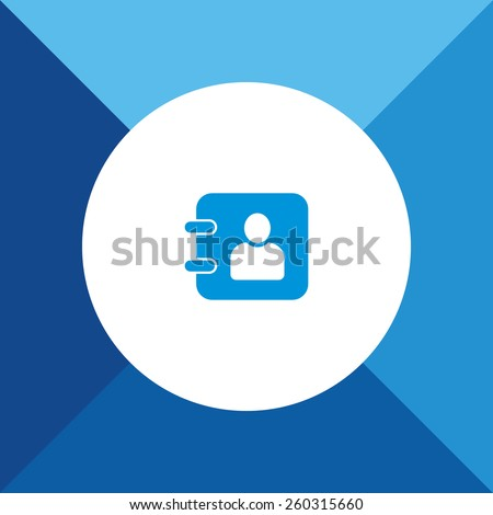 Diary Icon On Blue Background. Eps-10. - stock vector