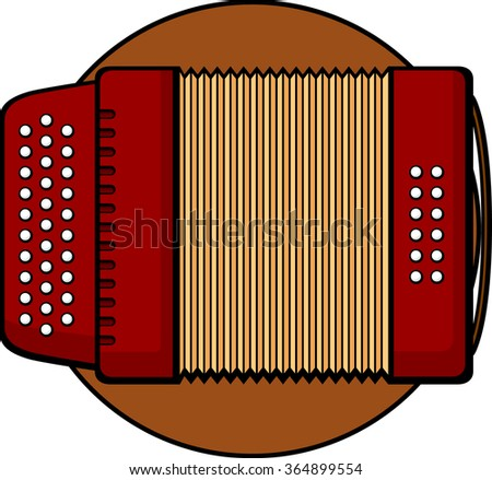 diatonic accordion musical instrument - stock vector
