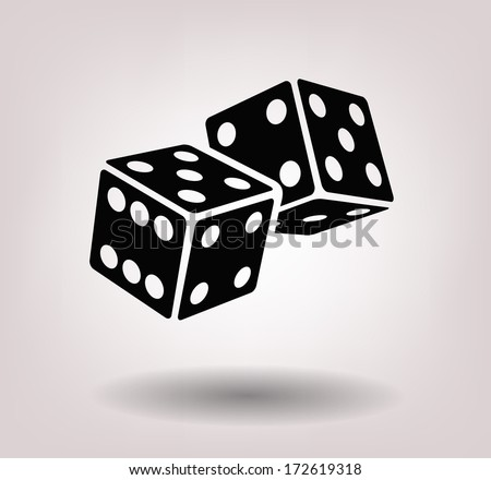 dice cubes - stock vector