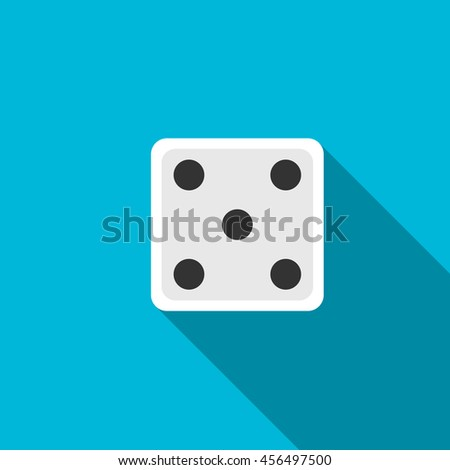 Dice flat icon illustration isolated vector sign symbol - stock vector