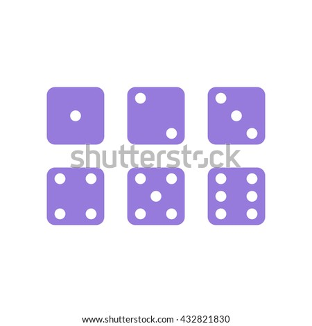 Dice Icon - Gamble, Game, Sport, Casino icon in vector illustration. - stock vector