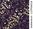 Dice seamless background pattern. Vector illustration (eps10). - stock photo