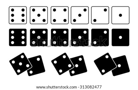 Dice set white and black