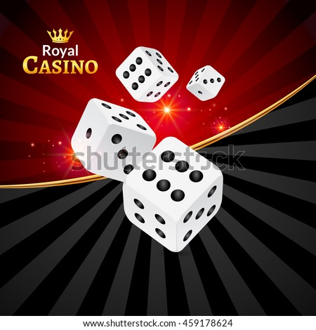 Dice vector casino design background. Dice gambling template concept. Casino background. - stock vector