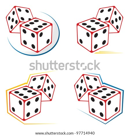 Dices icons - stock vector