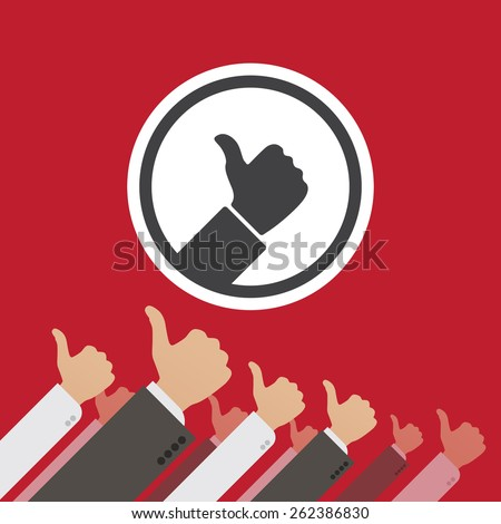 Dictatorship of the Like. Conceptual illustration suitable for advertising and promotion - stock vector